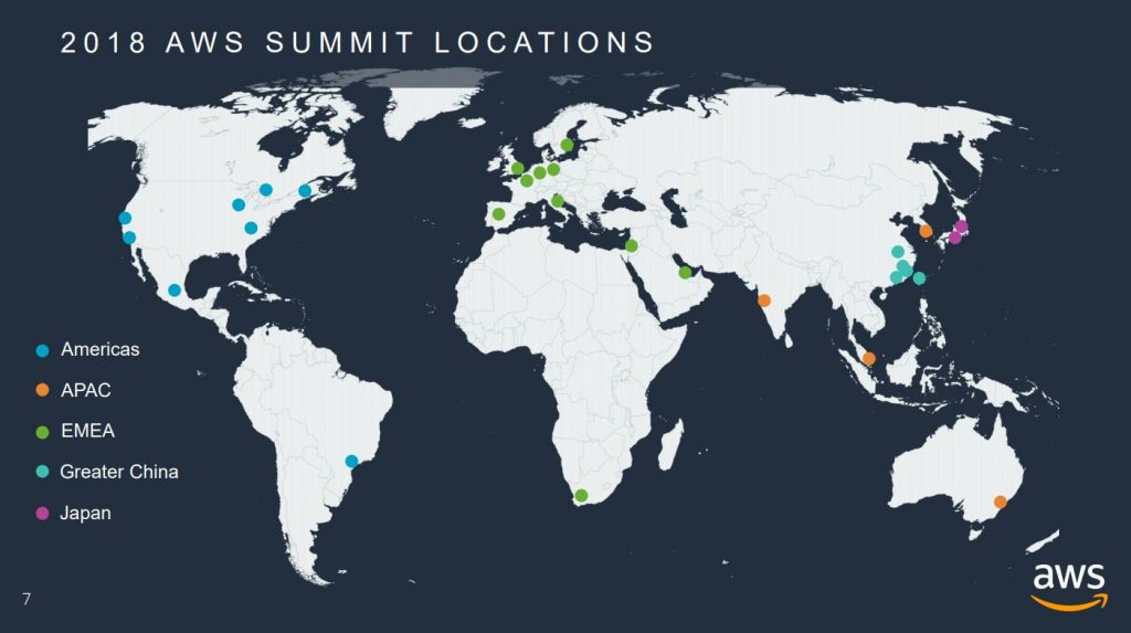 aws global summit 2018 map