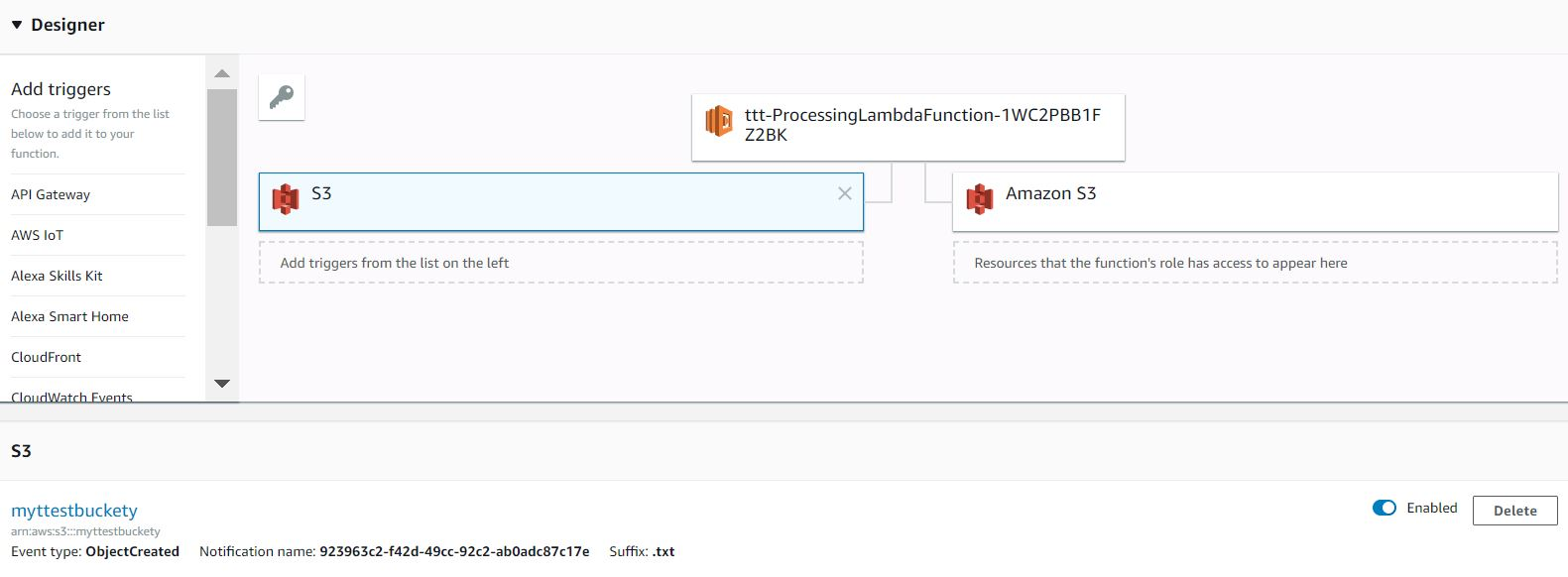 Implement S3 Bucket Lambda triggers in AWS CloudFormation