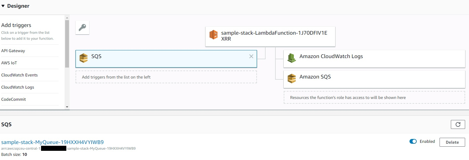 SQS Queue as Lambda Trigger in AWS CloudFormation | itonaut com